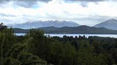 Huge Mountain Landscape Panorama Stock Footage
