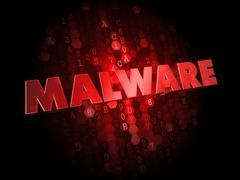 Malware on Dark Digital Background. - stock illustration