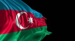Flag of Azerbaijan Stock Footage