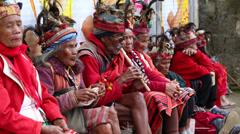 Ifugao - the people in the Philippines. Stock Footage