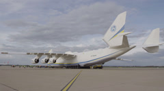 HD Antonov 225 Mriya airplane Stock Footage