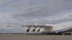 HD Antonov 225 Mriya airplane twin tail - stock footage