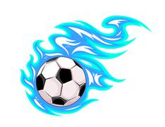 Championship soccer ball or football Stock Illustration