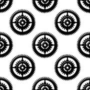 Gears and pinions seamless pattern Stock Illustration