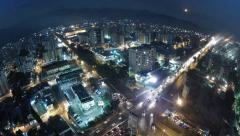Timelapse city day to night wide angle lense / ciudad de día a noche Stock Footage