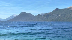 Lake and Mountain Landscape - stock footage