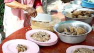 Stock Video Footage of preparing boil stewed duck for customer at Thai restaurant