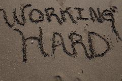 sand beach script - stock photo