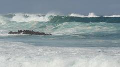 Ocean wave tide slow motion - stock footage
