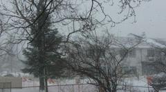 Heavy snowfall 1080p Stock Footage