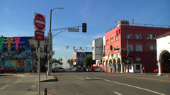 Venice Beach Sign Los Angeles Wide - stock footage