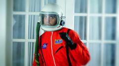 Dance dancing astronaut Stock Footage
