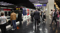 EDITORIAL: Metropolitain in Paris. - stock footage