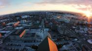 Stock Video Footage of Reykjavik From Behind Church Tower