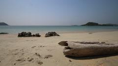 Beautiful beach in summer season in Thailand Stock Footage
