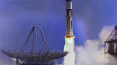 Spaceship, Apollo 7 Launch Animation  Stock Footage