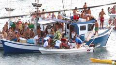 Fiesta del Carmen, Fuerteventura Stock Footage