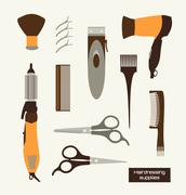 hairdressing supplies - stock illustration