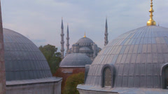 Mosques of Istanbul line up. Stock Footage