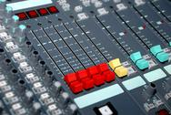 Stock Photo of sound mixing console