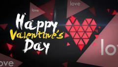 Happy Valentine's Day Looping Animation - stock footage