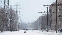 Winter season in Saint-Petersburg, Russia Stock Footage