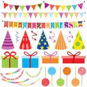 Party Decoration Stock Illustration