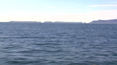 Channel Island National Park as seen from a passing boat. Stock Footage
