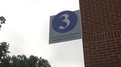 exterior admin signage - stock footage