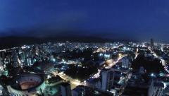 South America City Timelapse day to night - stock footage