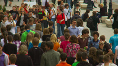Crowd - Walkway 1 Stock Footage