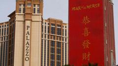 Las vegas palazzo resort casino 2 Stock Footage