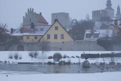 The UNESCO World Heritage Site Visby on Gotland in Sweden Stock Photos