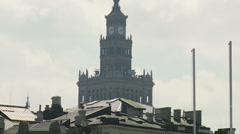 Palace of Culture and Science - Pałac kulturyi nauki - Warszawa , Warsaw Stock Footage