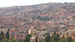 The city of Nazareth, Israel. Stock Footage