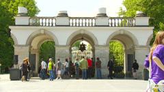 Saski Palace  - Grave of the unknown soldier Warszawa , Warsaw Stock Footage