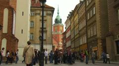 Old Town (Stare Miasto) - Warszawa , Warsaw Stock Footage