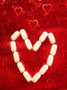 Pills for Love - stock photo