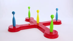 Ring scoring maximum result of a children plaything Stock Footage