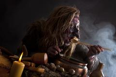 Witch tried brewed potion Stock Photos