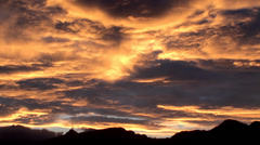 Pink sunset at the mountains. Stock Footage