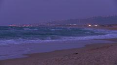 A beautiful coastline of Israel near Tel Aviv and Haifa. Stock Footage
