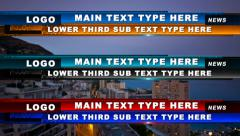 Stripe Lower Third Stock After Effects