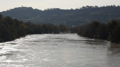 Tiber river time-lapse Stock Footage