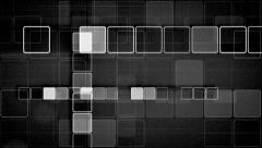 black and white squares abstract loopable background - stock footage