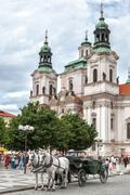 prague, czech republic, – july 19, 2012: photo of saint nicholas church in h - stock photo