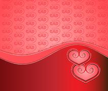 Stock Illustration of valentine red card