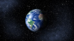 Earth in Space Stock Footage