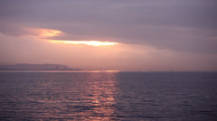 Sunset at Izmit Gulf Stock Footage