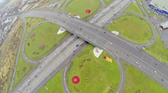 Traffic at Shchelkovskaya overpass on Moscow beltway Stock Footage